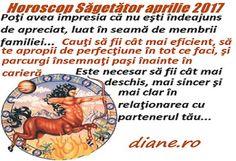 Horoscop aprilie 2017 Săgetător Sincerity, Baseball Cards, Astrology