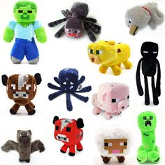 Minecraft Plush Doll Cute Soft Toys Kids Gift Creeper Enderman 12 PCS Set