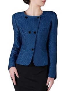 Graceful Collarless Plain Stylish Jackets Only $40.95 USD More info... Fashion 2017, Latest Fashion Trends, New Fashion, Kids Tops, Stylish Jackets, Blazer, Clothes For Women, Outerwear Women, Blazers