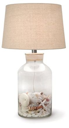 Large Keepsake Table Lamp, Clear - Bring Beachy Ease to the Entry - Week 20 - Sales Events | One Kings Lane