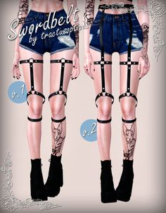 Belt Straps - tractusopticus Sims 4 Mods Clothes, Sims 4 Clothing, Sims Mods, Sims 4 Add Ons, Neon Outfits, Sims 4 Mm Cc, Sims Hair, Sims 4 Game, Sims 4 Cc Finds