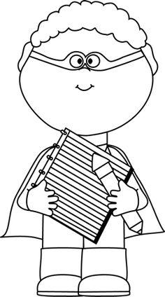 black and white superhero boy with clipboard szuperh s k rh pinterest com