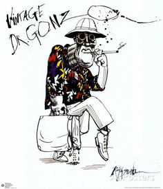 Fear And Loathing In Las Vegas Prints by Ralph Steadman at AllPosters.com My exact ipod skin lol or cover whatever