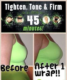 Most of us ladies would love to have a breast lift. But who wants to spend $10,000 for cosmetic surgery right?! A box of 4 It Works Body Wraps is wraps is $59