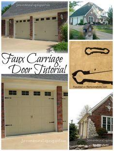 Quick easy diy garage door upgrade garage door update garage easy faux carriage door tutorial solutioingenieria Gallery