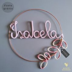 Wire Letters, Macrame, Hoop Earrings, Wreaths, Diy, Jewelry, Name Crafts, Bedroom Decor, Embellishments