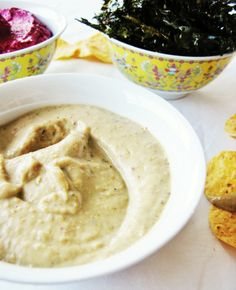 Aubergine and Tahini Dip Tahini Dip, Cheese Spread, First Bite, Hummus, Salsa, Dips, Veggies, Baking, Celebrities