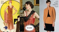 Dressing Lady Mary of Downton Abbey in patterns from 1924 and 2015.