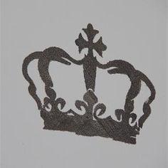 Schablon Krona 2, stl 3 - Jeanne d'Arc Living