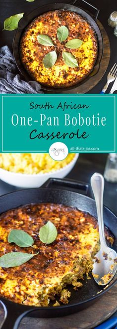 Flavorful and simple to prepare, this one-pan South African bobotie casserole is a perfect dinner solution for your busy weekdays. Spiced with cinnamon, turmeric, curry, and ginger and slightly sweetened with apricot jam, it's a party for your taste buds.