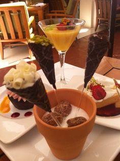 Cannoli lollipops - so cute! On the dessert tapas menu at Verandah at Four Seasons Hotel Las Vegas.
