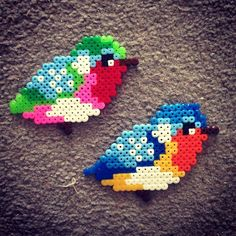 Birds hama perler beads by rachelhobbsx