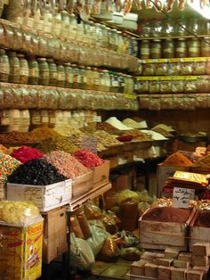 Damascus Spice Markets (the birds would fly in and pick through the spices)