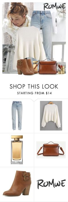 """""""Fall Romwe"""" by polybaby ❤ liked on Polyvore featuring Vetements, Dolce&Gabbana, Charlotte Russe and Guerlain"""