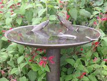 Trout with Dragon-fly Birdbath