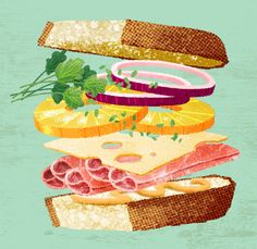 Sandwich illustration, Ingvard the Terrible // So gorgeous I want to eat it!