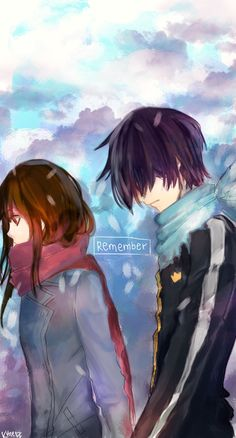 Remember by Khierz.deviantart.com on @deviantART  I totally ship Yato x Hiyori (Akio and Eri: Don't go...Don't you leave me too...)