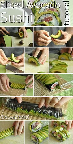 Avocado-Wrapped Sushi Now I have a major sushi craving!Peas and Crayons: Tips for Flawless Avocado-Wrapped Sushi.Now I have a major sushi craving!Peas and Crayons: Tips for Flawless Avocado-Wrapped Sushi. Sushi Comida, Avocado Wrap, Avocado Roll, Sushi Party, Sushi Sushi, Sushi Wrap, Sushi Set, Sushi Night, Sushi Recipes