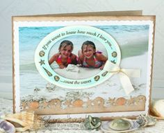 #justrite inspiration card designed by Sharon Harnist. Fun use of a photo in a card