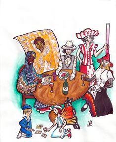 Illustrateur presse à Lausanne ⇒ Nathyfantasy - Illustratrice édition Lausanne, Art Graphique, Illustrations, Illustrator, Charts, Comics, Paint, Illustration, Illustrators