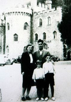 mom Louise and dad Harold with George and his brother Peter on a family holiday