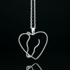 Sterling silver heart horse pendant necklace by AnniDesignsllc, $25.95 - sweet