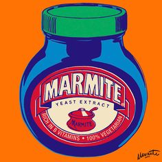 We've been exposed to Andy Warhol's iconic Campbell's soup cans for quite some time now, so it's about time a pop art print tribute to Marmite appeared. The love-it-or-hate-it yeast extract (which. Andy Warhol Pop Art, Herbert Bayer, Roy Lichtenstein, Pop Art Essen, Pop Art Food, Richard Hamilton, Pop Art Party, Contemporary Art Prints, Toulouse