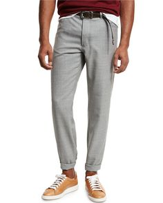 BRUNELLO CUCINELLI RUSTIC FIVE-POCKET WOOL PANTS, LIGHT GRAY, LIGHT GREY. #brunellocucinelli #cloth #