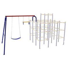 Skywalker Sports Modular Jungle Gym Swing Set - Playtime just got better with the Skywalker Sports Modular Jungle Gym Swing Set . Outdoor Toys, Outdoor Fun, Swing Set Accessories, 6 Year Old Boy, Jungle Gym, Modular Design, Get Well, Wardrobe Rack, Playground