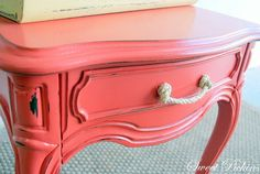 I really like th rope fort he drawer pull on this. And the color is pretty cool.