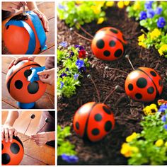 You'll never look at your bowling balls the same way again. Upcycle them into these fantastic garden characters.