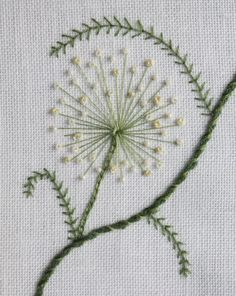 Stumpwork embroidery ~allium~ from Fuscia Bee Want to make one of these! pretty
