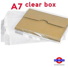 12 sets a7 kraft box with clear lid 5 38 x 1 x 7 12 inches 12 clear boxes for a7 cards 5 38 x 1 x 7 38 crystal clear packaging for greeting cards one piece box m4hsunfo Image collections