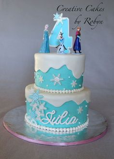 frozen themed birthday party ideas | Frozen Themed Birthday Cake... Love!