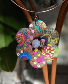 Polymer clay pendant, just beautiful.