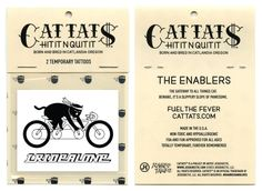 Cattats I Ride Alone Temporary Cat themed Tattoos I Cat tats Cattats.com