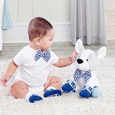 Oscar Plush Puppy, Bow Tie & Socks Set