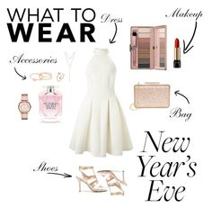 """""""New Years Eve look."""" by melx33 on Polyvore featuring Miss Selfridge, Lulu*s, Marc by Marc Jacobs, CHARLES & KEITH, Lancôme, BCBGeneration, Gorjana, Victoria's Secret, white and nye"""