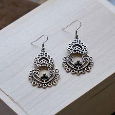 Hani Silver Lace Earrings