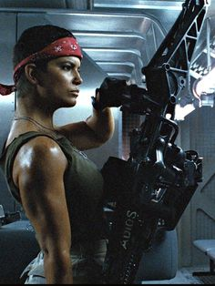 "Aliens (1986) - Jenette Goldstein   ""Hey Vasquez, have you ever been mistaken for a man?"" ""No. Have you?"". HOTTEST ,COOLEST, SEXIEST BITCH IN ANY MOVIE"
