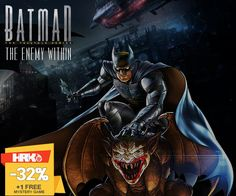 Let the dark knight take its flight, with the telltale series game of #Batman : The Enemy Within! Visit Here: https://www.hrkgame.com/games/products/?search=Batman++The+Telltale+Series&sort=date&genres=&cats=&platform=&os=&lang=&age=&publisher=&developer=