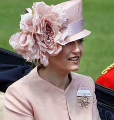 213860ea091d4 Ronny is telling you  Sophie Countess of Wessex wearing a pink Philip  Treacy hat at Royal Ascot.