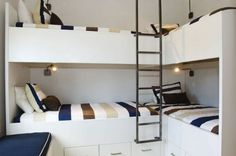 Modern Nautical Bunk Room at the Aly's Beach House in Florida