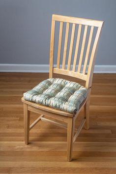 Silk Plaid Aqua Dining Chair Pad - Latex Foam Fill, Reversible – Barnett Home Decor Bar Stool Cushions, Rocking Chair Cushions, Dining Chair Cushions, Overstock Dining Chairs, Outdoor Fabric, Fabric Decor, Floor Chair, Latex, Fill