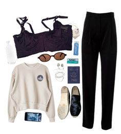 """#55 Philipa"" by s4tin ❤ liked on Polyvore featuring Kenzo, CÉLINE, Passport and canvas"