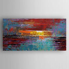 peinture à l'huile abstraite main toile moderne peint avec étiré encadrée de 2016 à €87.46