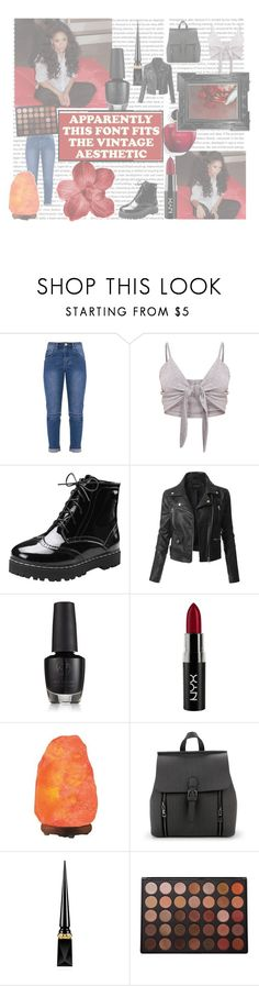 """""""This is what you wanted"""" by w-hiskeyneeds ❤ liked on Polyvore featuring LE3NO, NYX, Linda Horn, Christian Louboutin and Morphe"""