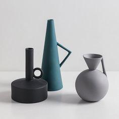 Minimal Art Modern Vase, Nordic handmade Ceramic Pottery, minimalist home decor