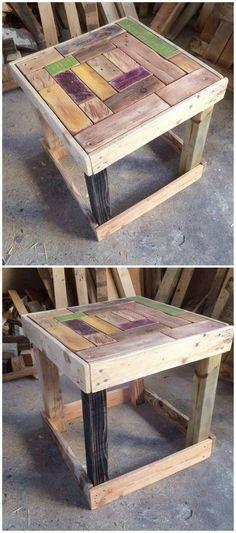 Mini Wood Pallet Table