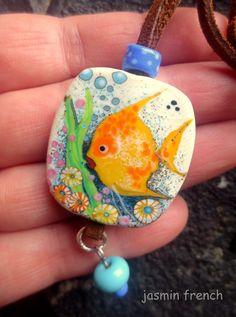 jasmin french ' underwater tale ' glass art by jasminfrench